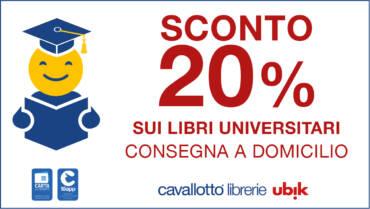 20% di sconto sui libri universitari