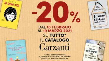 Libri Garzanti con lo sconto del 20%