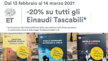 Sconto del 20% sui Tascabili Einaudi