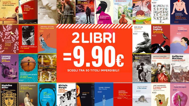 Economica Feltrinelli: 2 libri a 9,90€