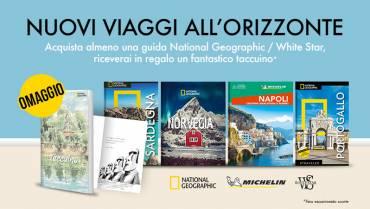 Un taccuino in regalo con le guide National Geographic